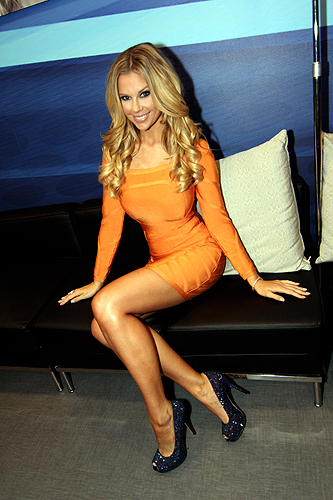 Jessa Hinton relaxes in the REVIV Living Room