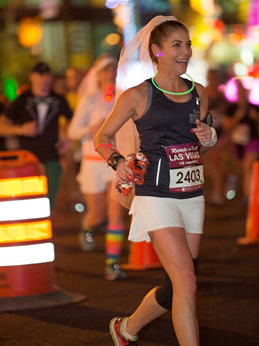 A bride races to the alter at Monte Carlo at Las Vegas Rock n Roll Marathon 11.16.14