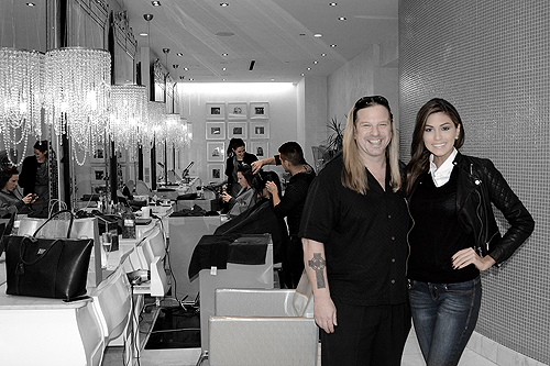 Michael Boychuck with Miss Universe Gabriela Isler at COLOR Salon