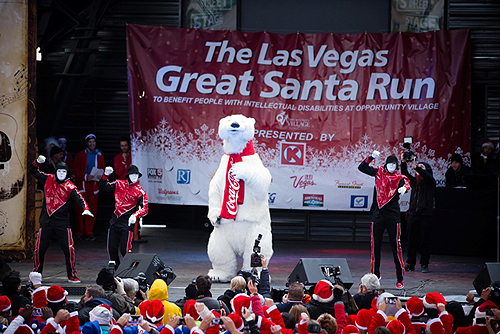 Jabbawockeez and the official Coca-Cola Polar Bear photo credit Opportunity Village