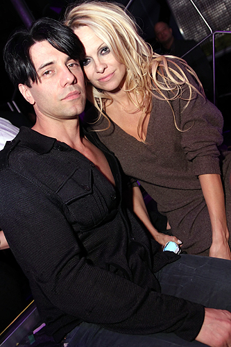 Pam Anderson with Criss Angel at Moon Nightclub 12.8.12