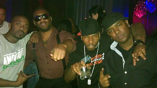 Ray J Austin Trout AP9 and DJ J Nice party at Chateau Nightclub