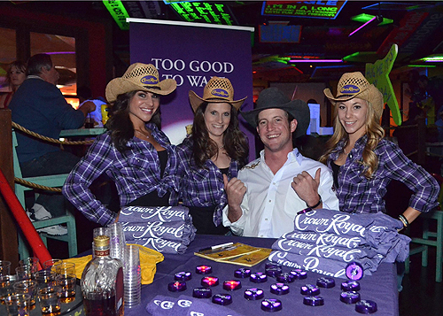 Tilden Hooper with Crown Royal girls at Senor Frogs Las Vegas