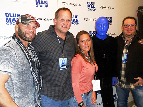 1.5.15  Randy Couture and Michael Austin at Blue Man Group Las Vegas in Monte Carlo Resort and Casino