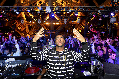 Malcolm Butler poses in the DJ booth Bryan Steffy