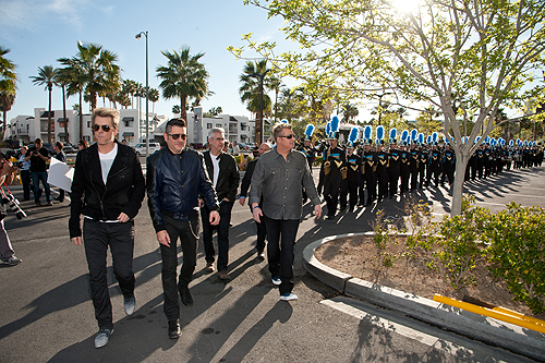 02.25.15 Rascal Flatts Leads Foothill High School Marching Band into The Joint at Hard Rock Hotel and Casino Patrick Gray Erik Kabik Photography