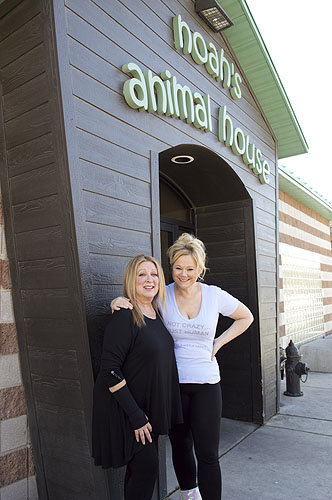 Elayne Boosler and Caroline Rhea Visit Noahs Animal House