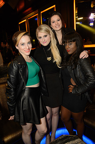 Meghan Trainor with Friends Hear of OMNIA