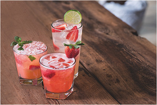 Seasonal Strawberry beverages