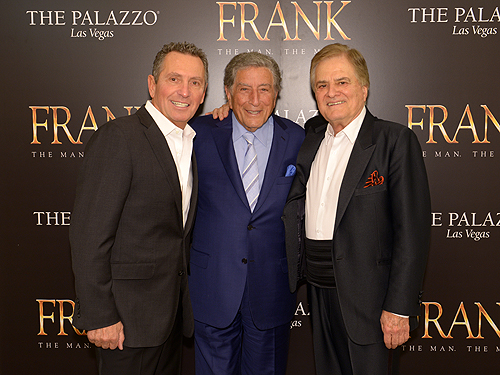 Bob Anderson Tony Bennett and Vincent Falcone
