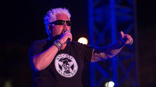 Guy Fieri at Sammy Hagar The Circles Concert at Downtown Las Vegas Events Center 4.11.15