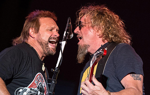 Michael Anthony Sammy Hagar Perform at Downtown Las Vegas Events Center 4.11.15