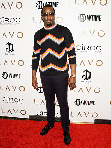 Puff Daddy LAVO red carpet
