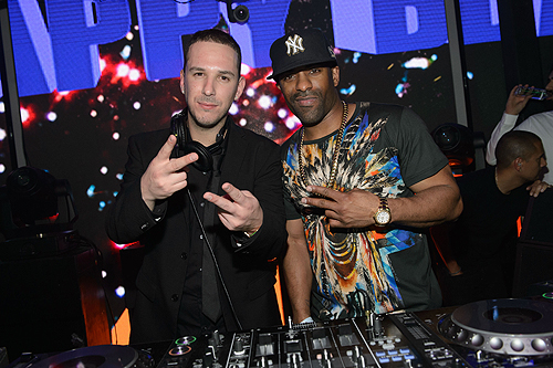 Eric DLux and DJ Clue attend DUSSE Presents Fight Weekend At Marquee Las Vegas  Photo by Al Powers