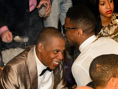 JAY-Z and Fabolous attend DUSSE Presents Fight Weekend At Marquee Las Vegas  Photo by Al Powers