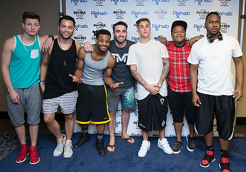 King Bach Sam Shahidi Justin Bieber and Kyle Massey