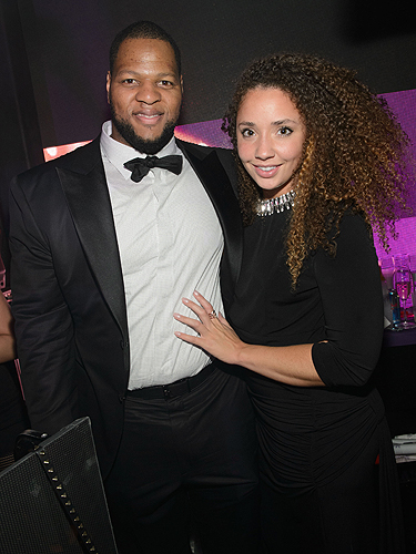 Ndamukong Suh attends DUSSE Presents Fight Weekend At Marquee Las Vegas Hosted by JAY-Z Photo by Al Powers