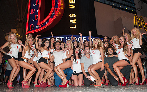 Aussie Hunks Male Revue Pose With Miss D Legs Contestants Tom Donoghue