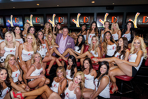 Miss D Legs Contestants with Owner Derek Stevens at LONGBAR Glen Brogan