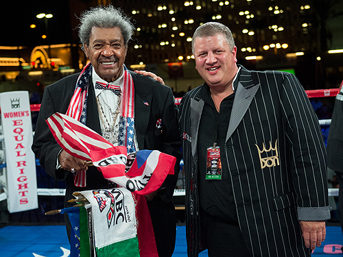 Don King with owner Derek Stevens