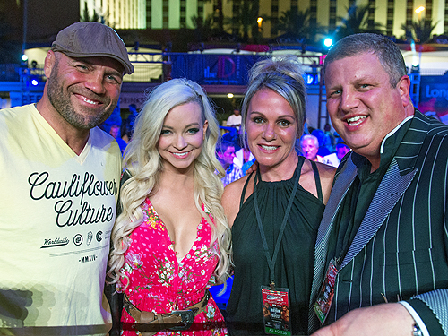 Randy Couture and Mindy Robinson with Derek Stevens and wife