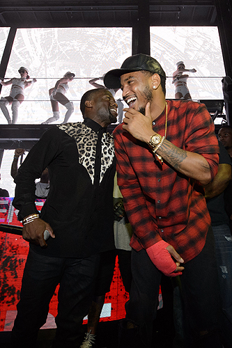Kevin Hart and Trey Songz at Marquee