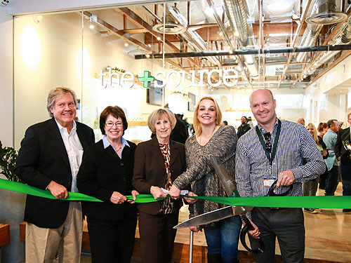 TheSource Ribbon Cutting-Tick Segerblom-Mary Beth Scow-Susan Brager-Jennifer Krellenstein-Andrew Jolley Credit Jeff Ragazzo
