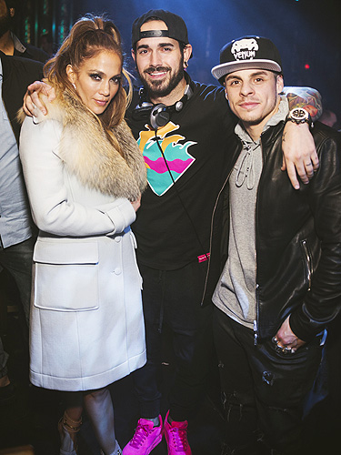 Jennifer Lopez DJ Shift and Caspter Smart Photo Credit Aaron Garcia