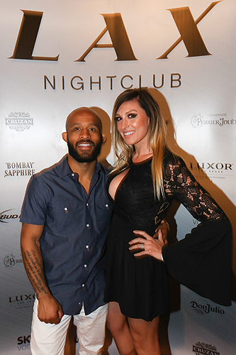Demetrious Johnson and Destiny Bartels at LAX Nightclub at Luxor Hotel and Casino April 23 2