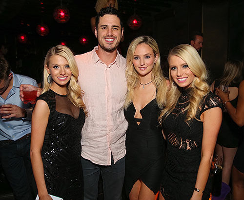 Ben Higgins Lauren Bushnell Emily and Haley Ferguson at Marquee