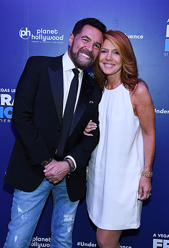 Clint Holmes and Wife Kelly Clinton-Holmes at Opening Night of FRANKIE MORENO - UNDER THE INFLUENCE at Planet Hollywood Resort and Casino 5.4.16 Credit
