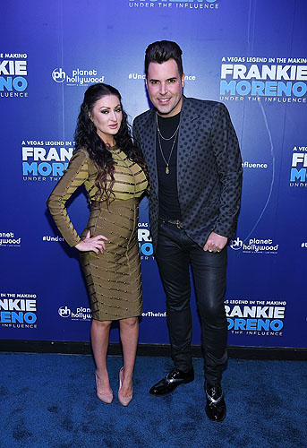 Heather Marianna and Frankie Moreno at Opening Night of FRANKIE MORENO - UNDER THE INFLUENCE at Planet Hollywood Resort and Casino 5.4.16 Credit Denise Tru