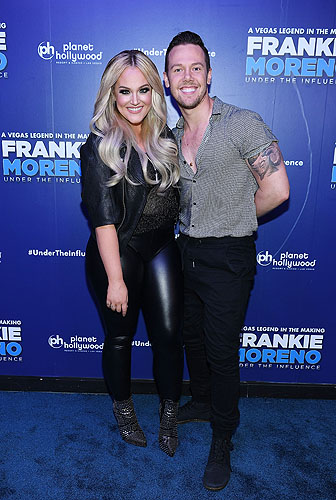 Lacey Schwimmer and Benji Schwimmer brother at Opening Night of FRANKIE MORENO - UNDER THE INFLUENCE at Planet Hollywood Resort and Casino 5.4.16 Credit Denise Truscello