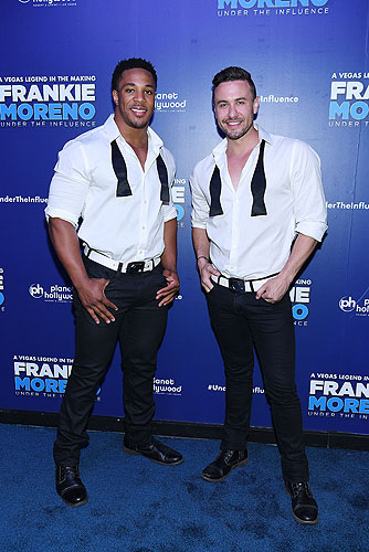 Members of CHIPPENDALES at Opening Night of FRANKIE MORENO - UNDER THE INFLUENCE at Planet Hollywood Resort and Casino 5.4.16 Credit Denise Truscello