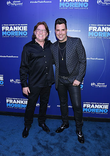 Pat Thrall and Frankie Moreno at Opening Night of FRANKIE MORENO - UNDER THE INFLUENCE at Planet Hollywood Resort and Casino 5.4.16 Credit Denise Truscello