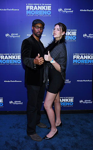 Wu Tang Clans Robert Diggs aka RZA and Zita Vass at Opening Night of FRANKIE MORENO - UNDER THE INFLUENCE at Planet Hollywood Resort and Casino 5.4.16 C