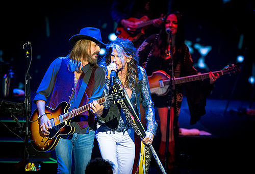 Marti Frederiksen and Steven Tyler at The Venetian Las Vegas