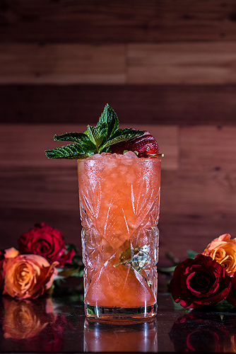 borracha strawberry cocktail