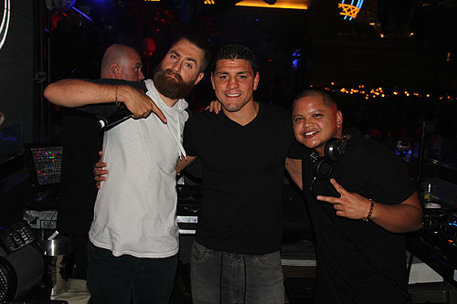 Nick Diaz DJ P-Jay and Friend at Chateau