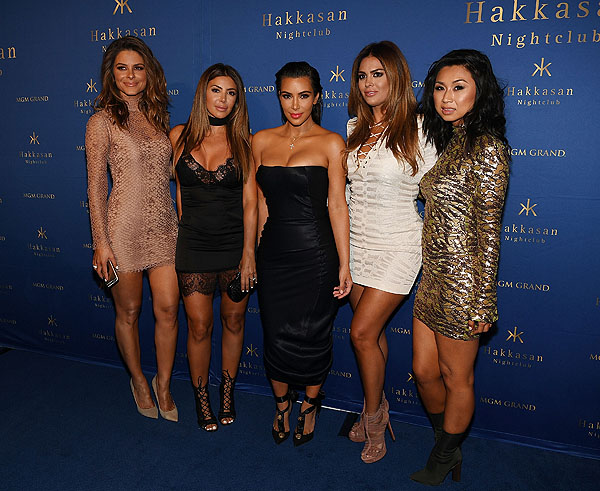 Kim Kardashian Maria Menounos Larsa Pippen Carla DiBello Hakkasan Photo Credit Denise Truscello of Wire Imagery 12