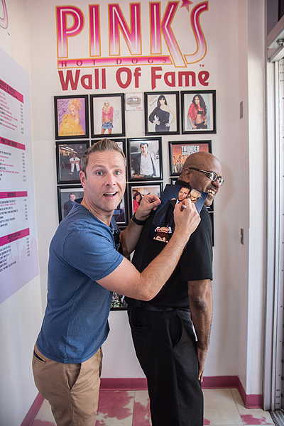 Paul Zerdin Joins Pinks Hot Dogs Wall of Fame