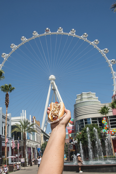 The Mat Franco Hot Dog and The LINQ Promenades High Roller