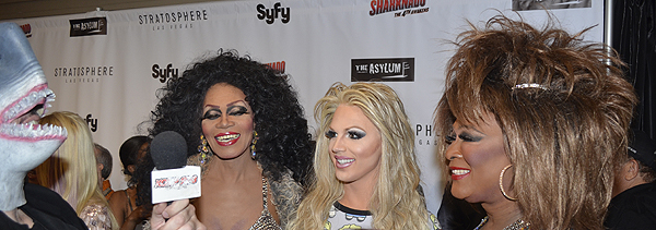 Cast of Divas Las Vegas at premiere of Sharknado The 4th Awakens 6966