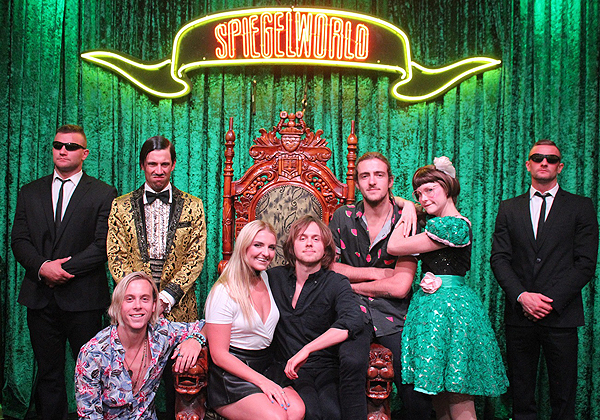 Rocky Lynch Riker Lynch Rydel Lynch and Ellington Ratliff at ABSINTHE at Caesars Palace 8.10.16 photo credit Joseph Sanders