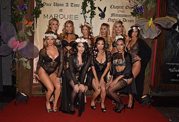 Anna Sophia Berglund Kayla Rae Reid Dominique Jane Heather Rae Young Alexandra Tyler Val Keil Audrey Aleen Allen Ashley Doris Hiromi Oshima and Shanice Jordyn at Playboy Midsummer Nights Dream party at the Marquee Nightclub