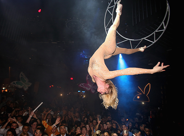 Entertainer performs during the Playboy Midsummer Nights Dream party at the Marquee Nightclub Photo Credit Isaac Brekken