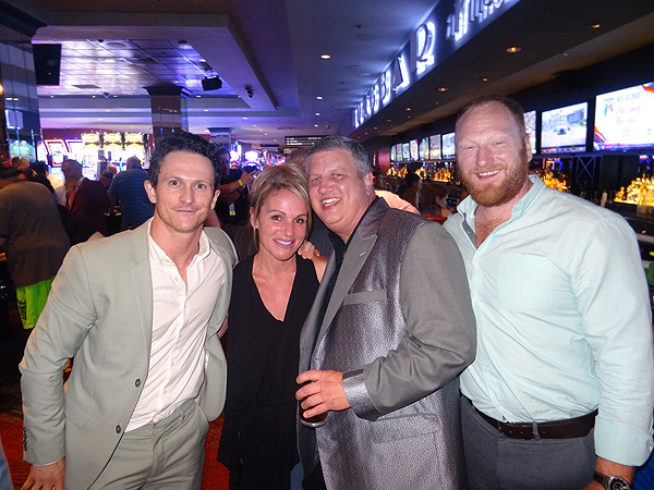 Kingdoms Jonathan Tucker and Mac Brandt visit LONGBAR with the Ds Owner Derek Stevens and wife Nicole Parthum