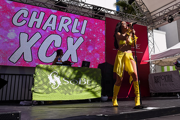 Charli XCX at Foxtail Pool over Labor Day Weekend