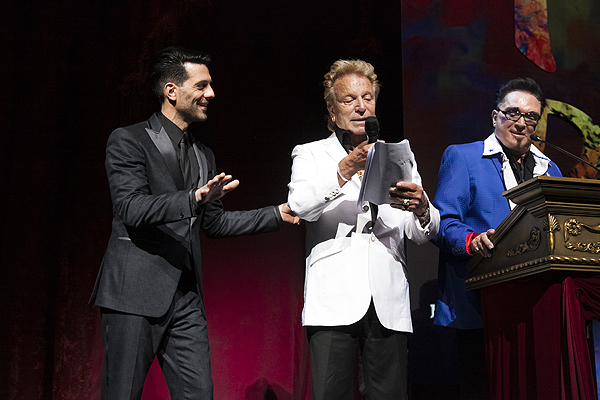 Criss Angel Siegfried and Roy at Criss Angel HELP Sept 12 2016 Jerry Metellus