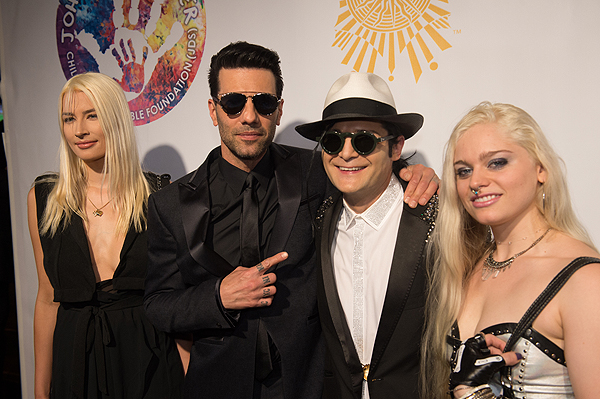 Criss Angel and celebrity friends on the gold carpet at Criss Angel HELP Sept 12 2016 Tom Donoghue